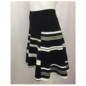 BCBGeneration Skirts - BCBGeneration Striped Cadet Combo Knit Skirt L